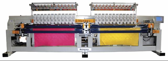 Автоматическая многоцветная двухваловая стегально-вышивальная машина