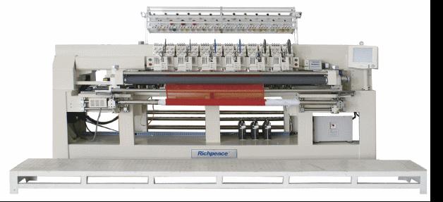 Автоматическая одноваловая стегально-вышивальная машина для тонких материалов