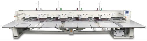Автоматическая многоголовочная шаблонная швейная машина (для тонких материалов)