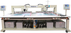 Швейная машина с двумя рабочими станциями и функцией резки