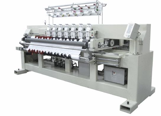 Автоматическая одноваловая стегально-вышивальная машина чистой намотки