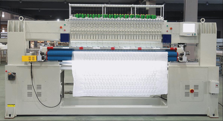 Автоматическая одноцветная двухрядная стегально-вышивальная машина