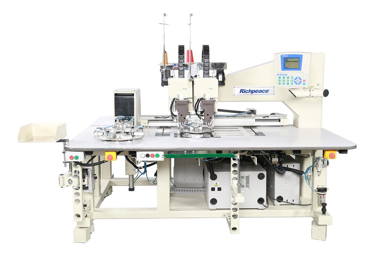 Автоматическая двухцветная швейная машина для пришивания карманов